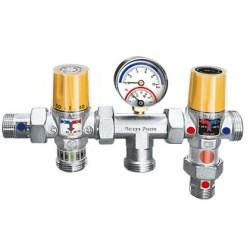 """Θερμοστατικό Συγκρότημα Εκτροπής και Ανάμιξης Ζεστού Νερού Brass Form 1/2"""""""