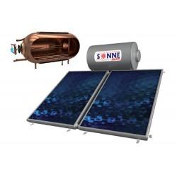 Sonne Aktion Χάλκινος Ηλιακός Θερμοσίφωνας 160lt Διπλής Ενέργειας με 2 Επιλεκτικούς Συλλέκτες ATLAS 3.2 m²