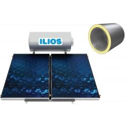 Ilios Γαλβανιζέ Ηλιακός Θερμοσίφωνας 120lt Διπλής Ενέργειας με 1 Επιλεκτικό Συλλέκτη ATLAS 1.6 m²