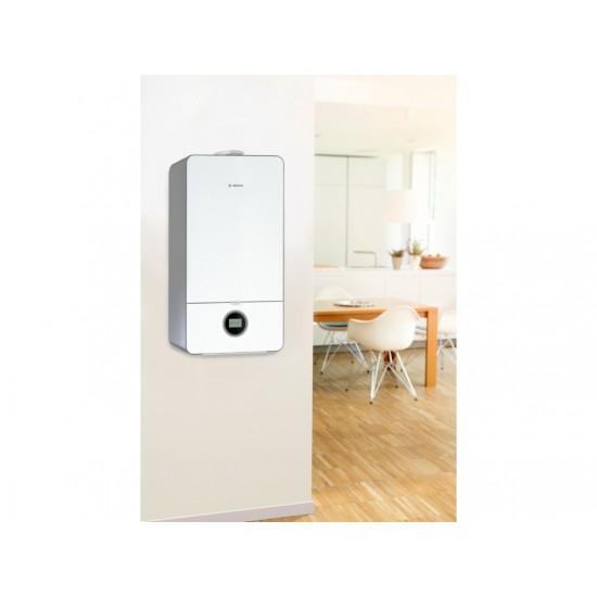 BOSCH CONDENS 7000i W Επίτοιχος Λέβητας Αερίου Συμπύκνωσης για Θέρμανση και Ζεστό Νερό Χρήσης 24kW